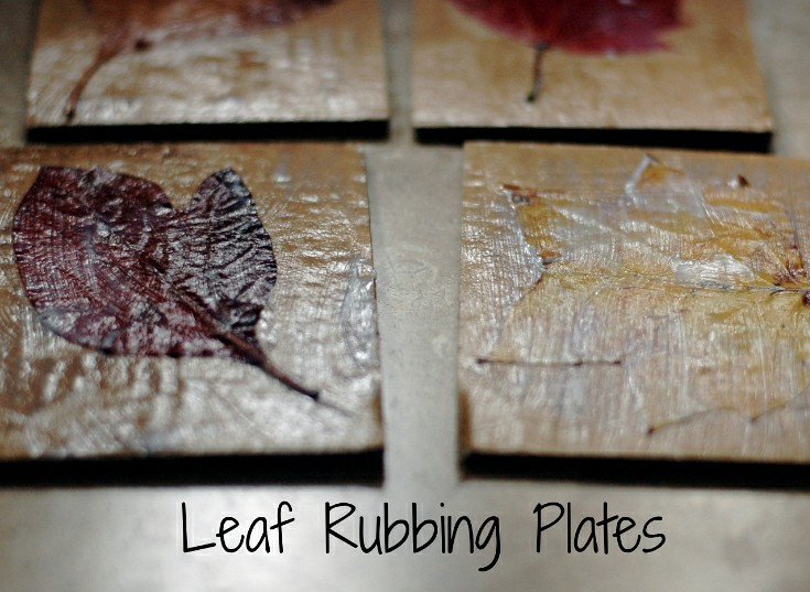 Sticks & Leaves: Rubbing Plates