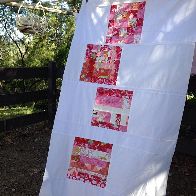Baby girl quilt top done.