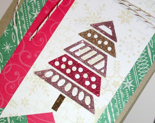 Glitter Christmas Tree Card 2