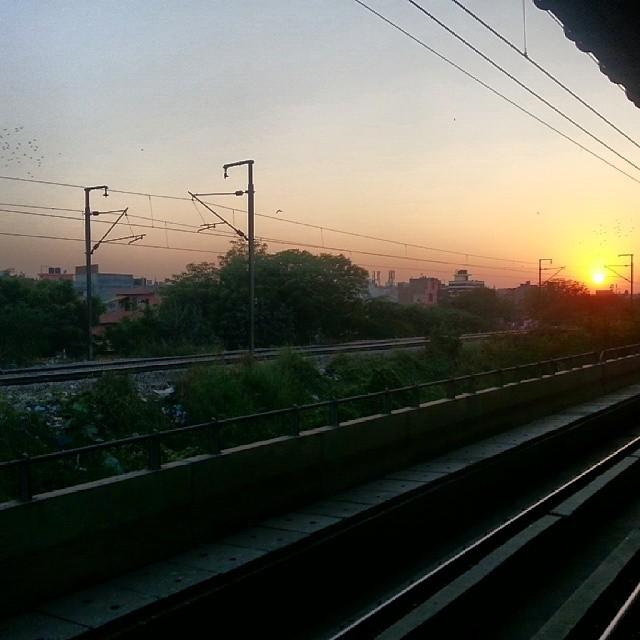 Evening shot at #seelampur metro station