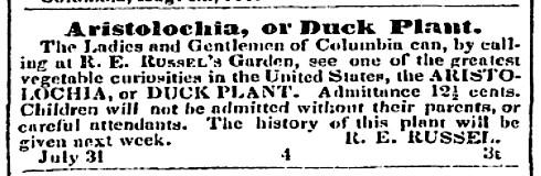 Russell Botanical Garden ad