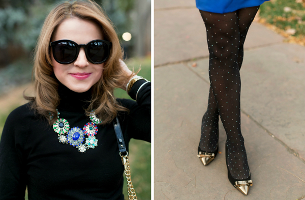 Karen Walker Super Duper + J.Crew Necklace and Shoes