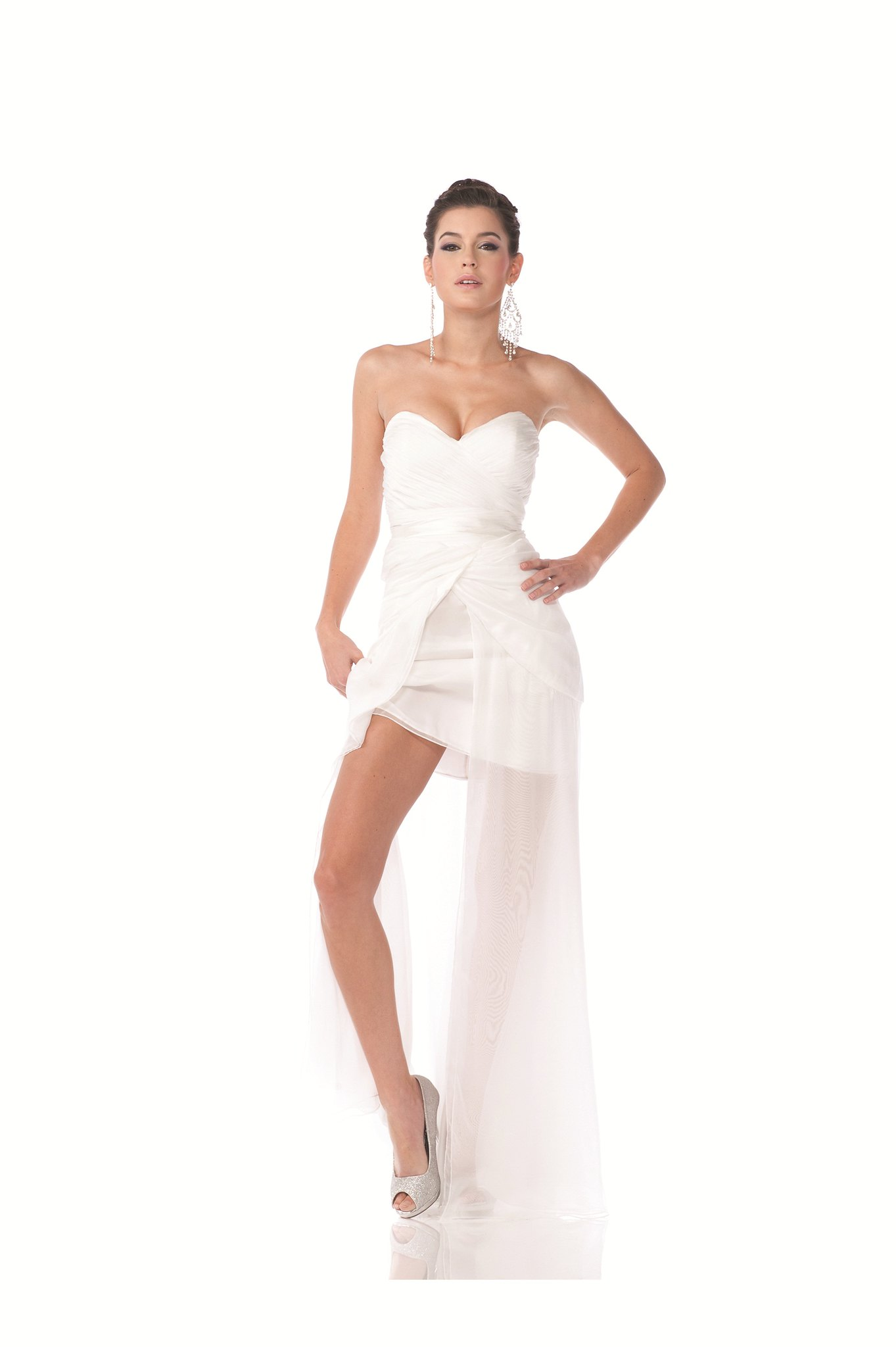 Home ing Bridesmaids Prom Long Dress Strapless