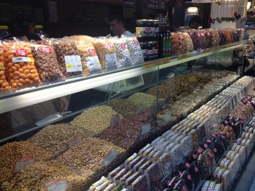 "Hudson Pecan Company hopes to put its products among the variety of nuts sold in this Turkish supermarket where Scott Hudson surveyed food products and exclaimed, ""Nuts everywhere, but where are the pecans?  Coming soon!"" he said."