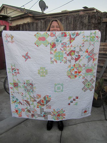 Jen and her quilt