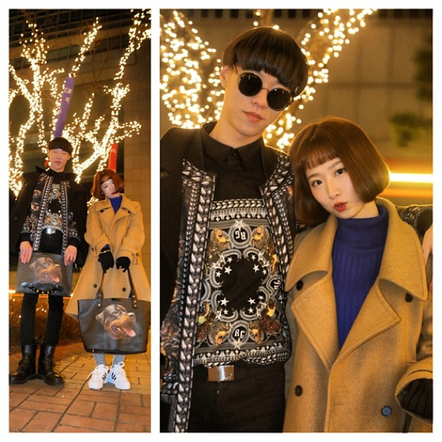 Christmas couples in Korea about and abounding on Christmas Eve.