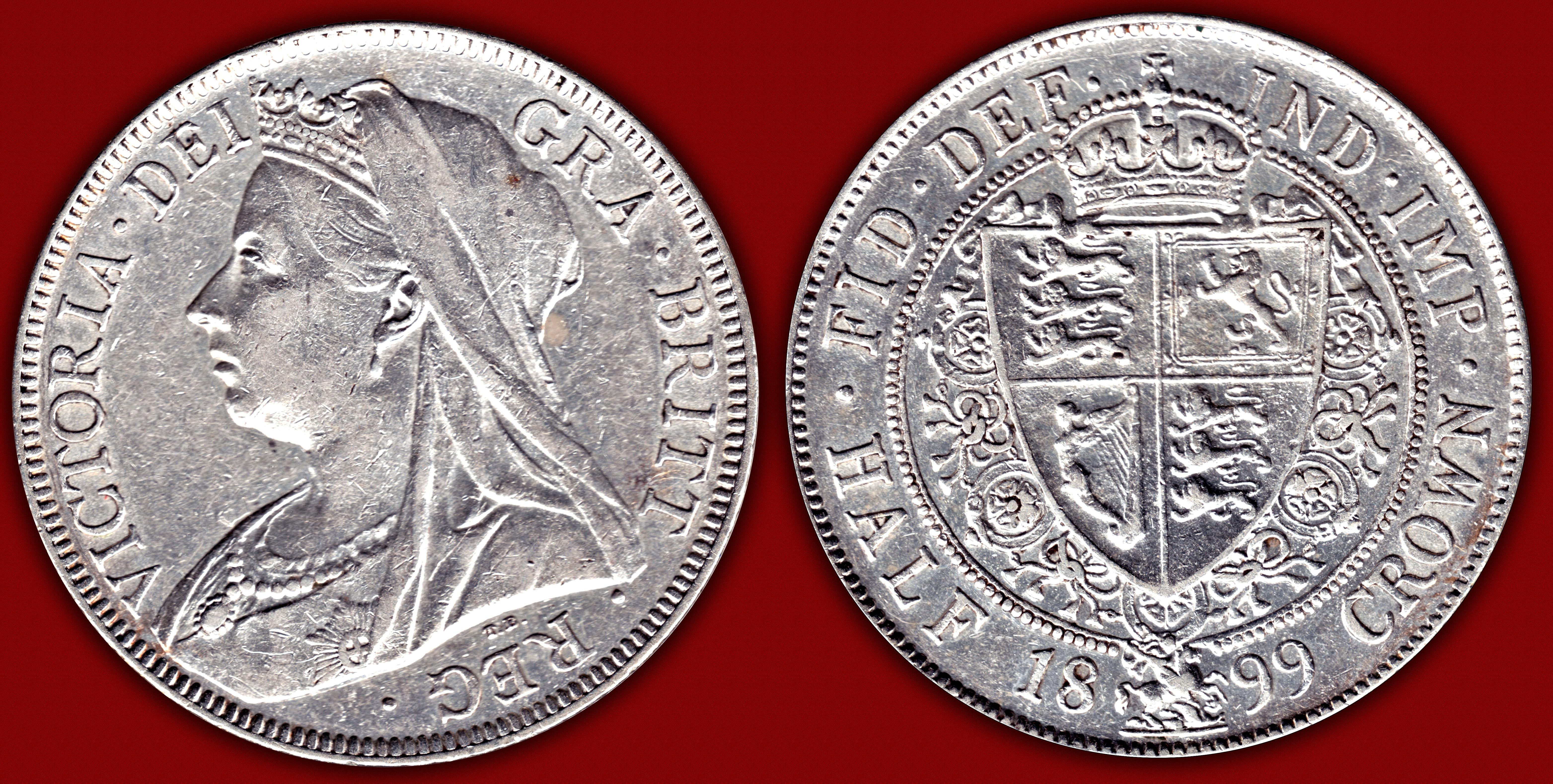 Gran Bretaña 1899 - Media Corona Queen Victoria 11737270434_7b3cf7390b_o
