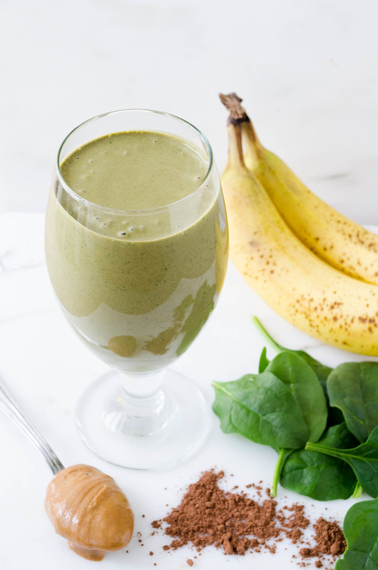 Chocolate Peanut Butter Green Smoothie   cooking ala mel