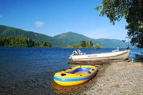 Caycuse Recreation Site on Cowichan Lake near Lake Cowichan, Vancouver Island, British Columbia