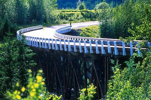 Kiskatinaw River, Dawson Creek, Alaska Highway 97, Northern British Columbia, Canada