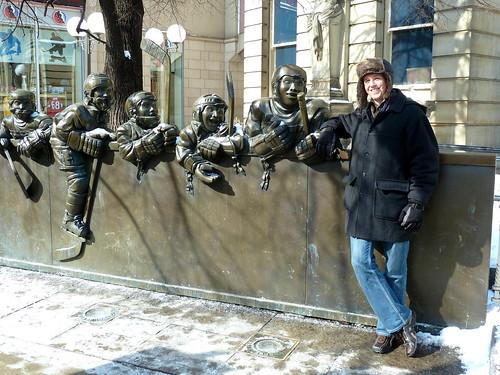 Paul outside Hockey Hall of Fame