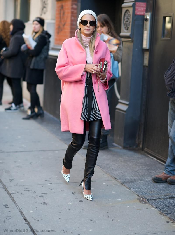 women's pink coat