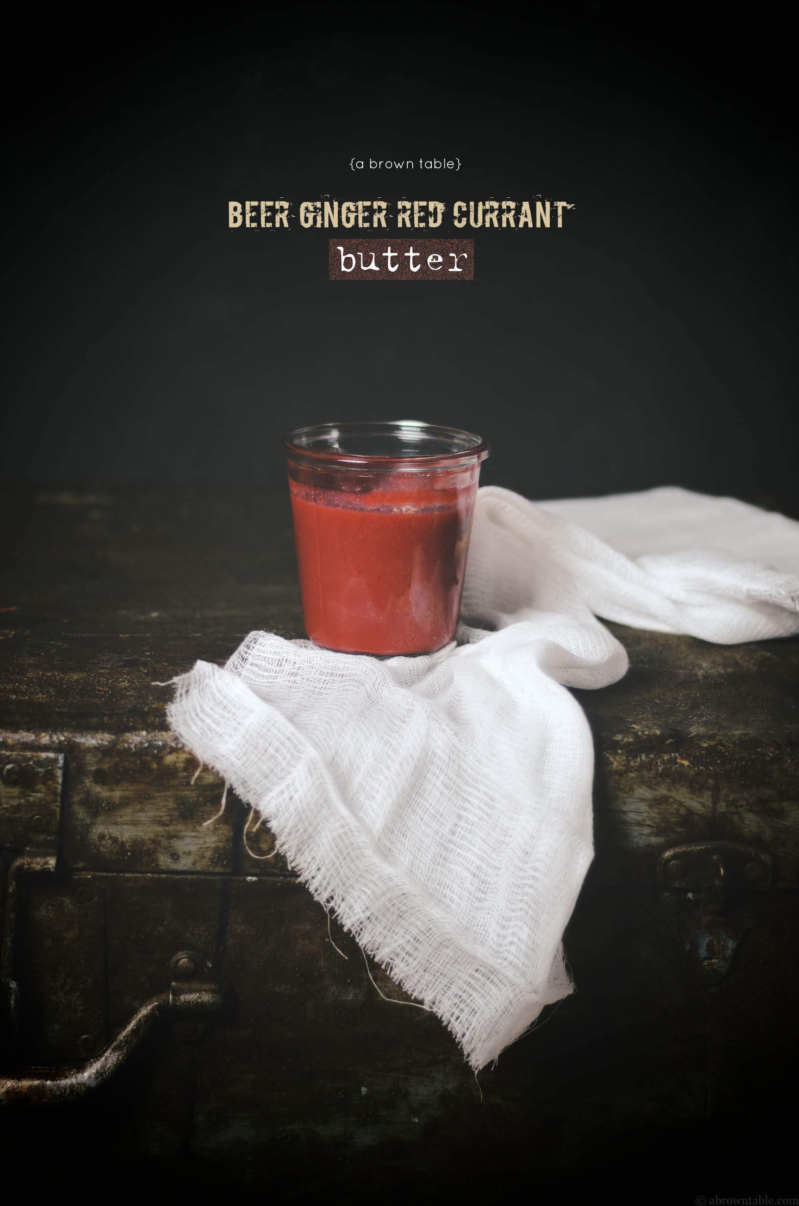 beer ginger red currant butter