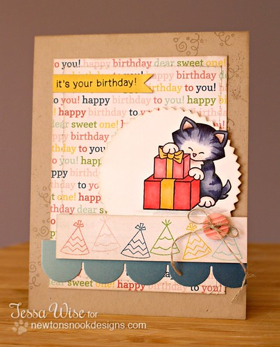 Birthday Kitty Card 1