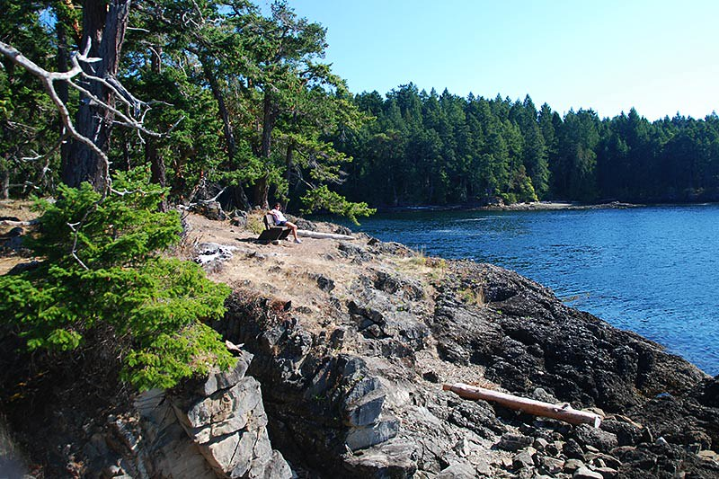 Ella Bay in Roesland Park, North Pender Island, Gulf Islands National Park, British Columbia, Canada