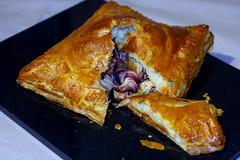 Radicchio pastry parcel