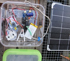 Simple Solar Project with Adafruit Trinket, NeoPixel, Lipo Charger and LiPo battery