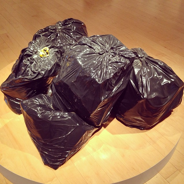 Art is garbage? Garbage can be art? Post-modern statement on the persistence of consumption? #itsjustgarbage #ibringmyarttothedump