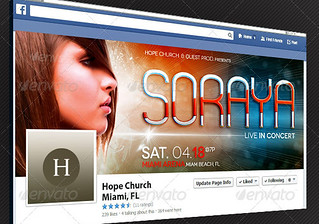 Gospel Pop Artist Facebook Timeline Cover Template