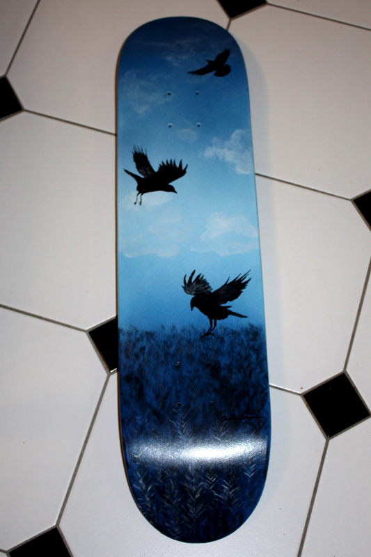Custom spraypainted hand painted longboard by Ace of Dymondz ($100 example)