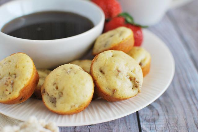 Mini Sausage Pancake Muffins - easier than pancakes and kids love them!