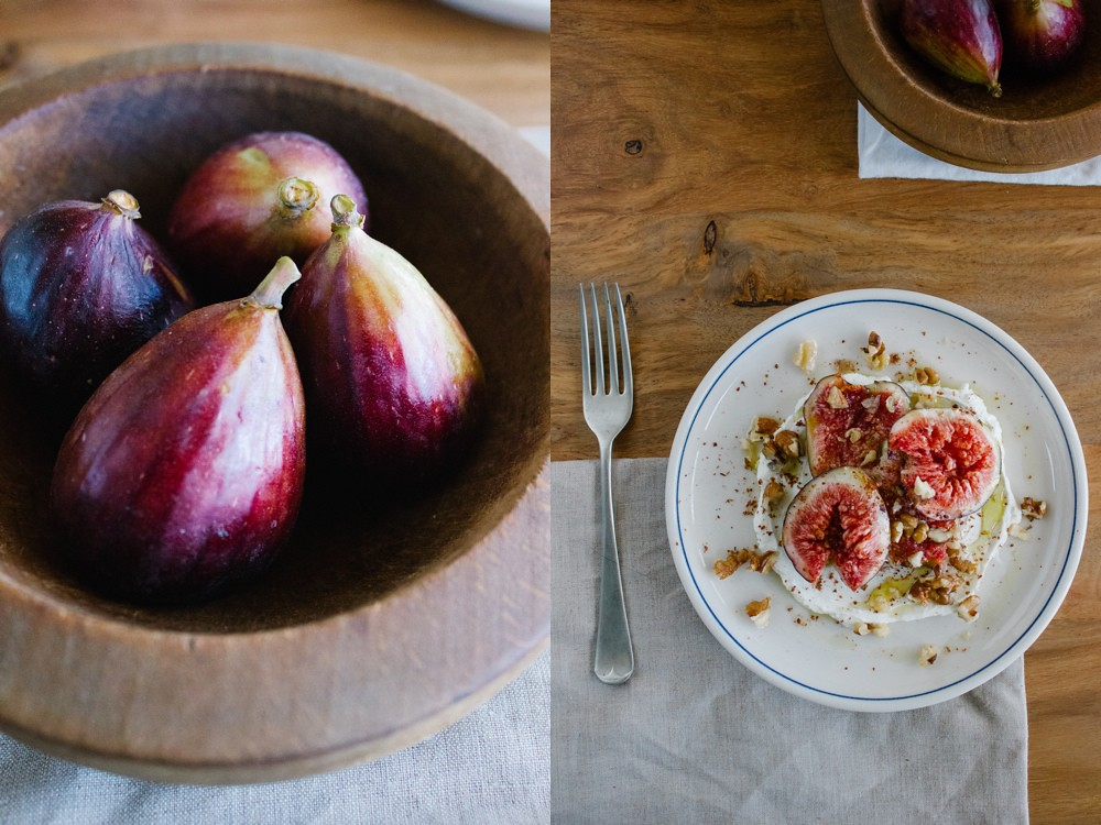 Smashed Figs with Labneh, Walnuts and Sumac