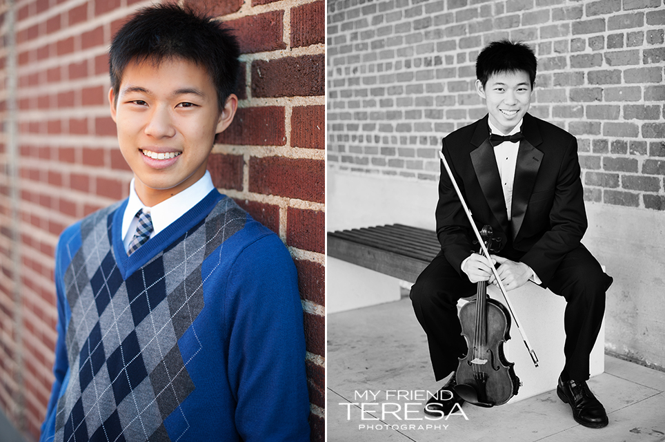 cary academy senior, cary senior photography, my friend teresa photography, senior with violin