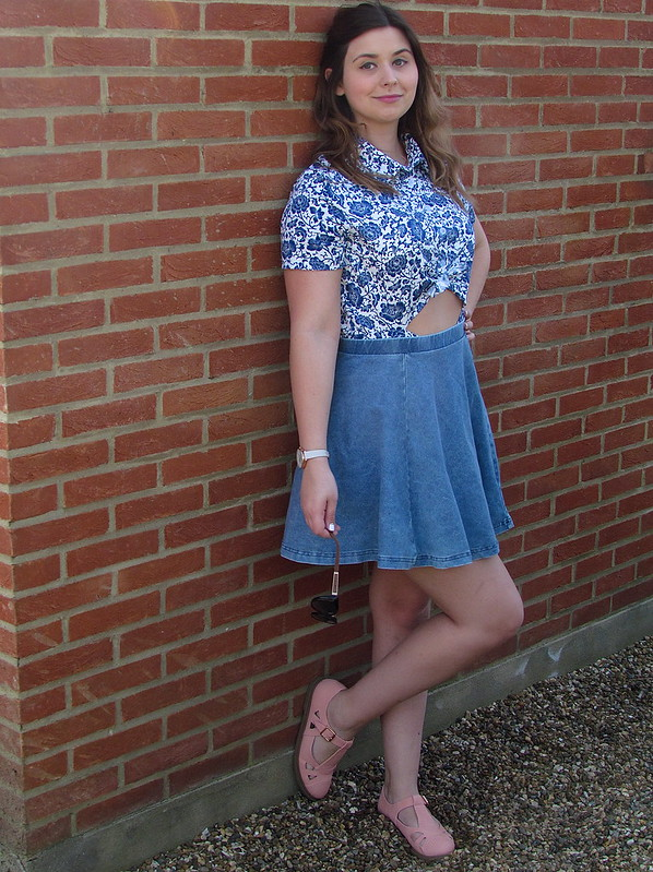 Meemee Playsuit Topshop Skirt Shelikes dolly shoes