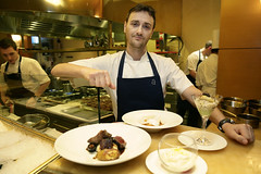 Jason Atherton, prepares food for the British showcase dinner