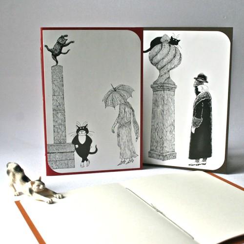 cat-themed-blank-book-set