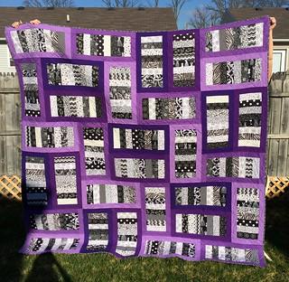 purple quilt front