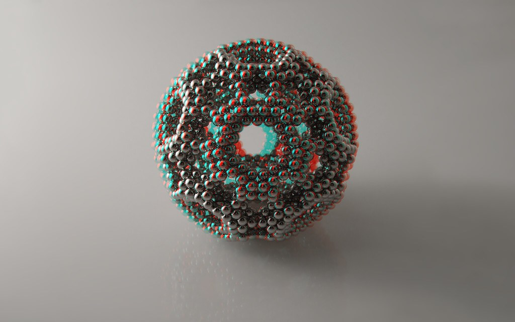 Ring Dodecahedron in anaglyph 3D