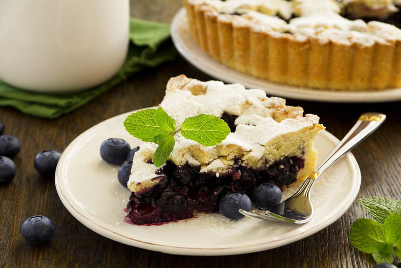 Vienna blueberry pie.