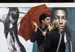 Couple with Umbrella; Advertisement