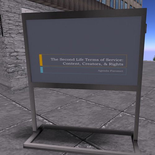 Second Life Terms of Service