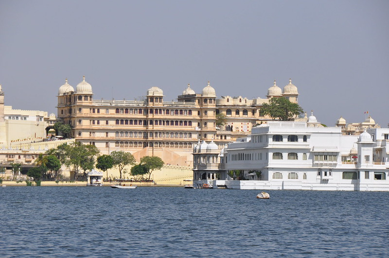 City Palace and Lake Palace hotel, Udaipur, Rajasthan