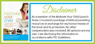 Motivate Your Child Disclaimer