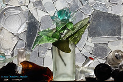 Sea Glass Aqua Flower Leveled