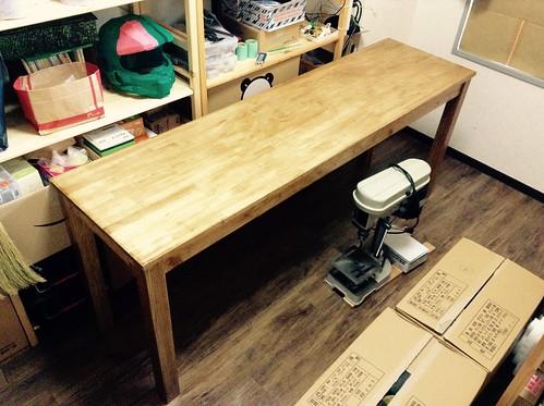 作業テーブル製作