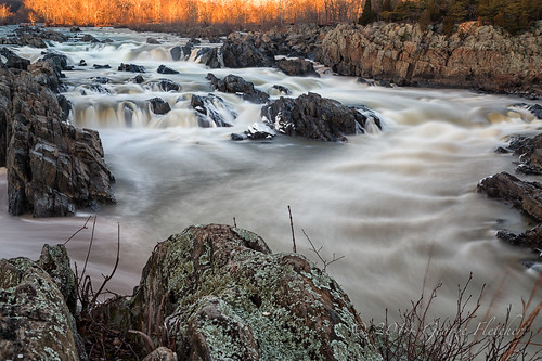 longexposure virginia rocks unitedstates greatfalls current mclean rushing