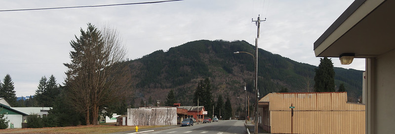 Old Downtown Darrington + Mountains