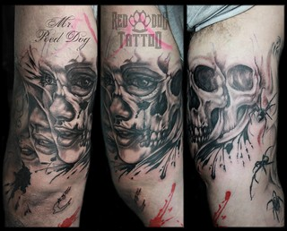 faceskull sleeve detail