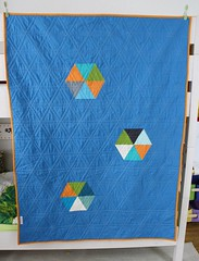 Triangle quilt back