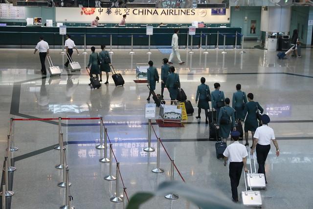 EVA Air 長榮航空組員出境 桃園機場