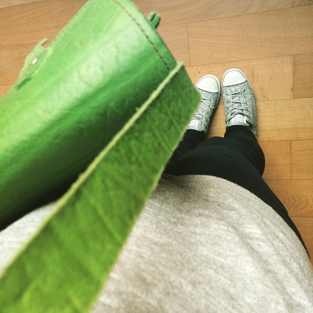 Satchels and sparkly sneakers for hospital appointments today #fromwhereistand
