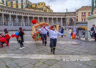 Image of Piazza del Plebiscito. italy campania napoli piazza festa capodanno cinese plebiscito