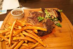 meal, steak, vegetable, meat, steak frites, french fries, food, dish, cuisine,