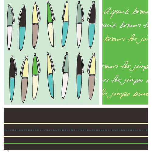 Which coordinating fabric do you like best? Green? 2/4 photos.
