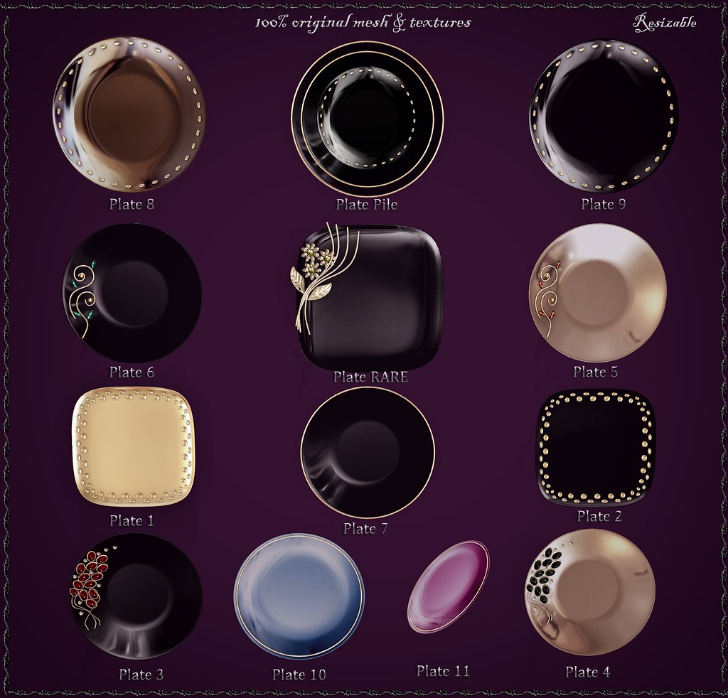 Plates Gacha by ChicChica OUT @ Shiny Shabby