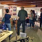 Die Familie, die heute in Frankenthal lebt, beim Besuch unserer Heimatausstellung.
